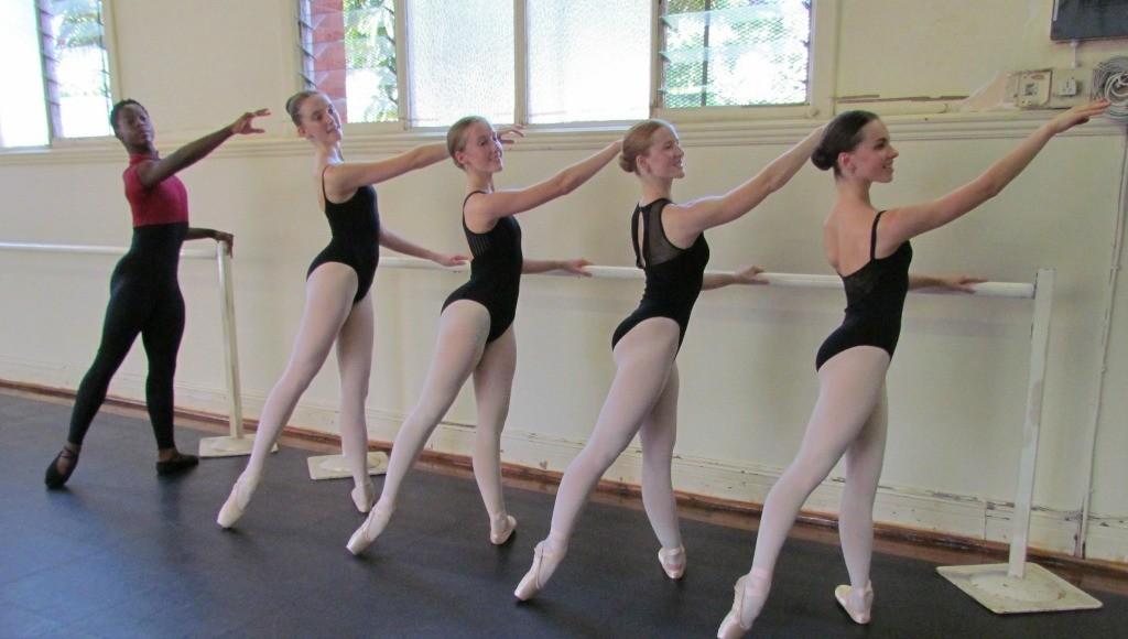 KZN Dance Academy dancers L – R: Thomas Larché, Megan Beyers, Megan de Oliveira, Alexandra Lawson, Leah Allen (Photo credit: Margie Marnewick)