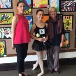 Mabel Ryan winner, Emma Heron, flanked by adjudicators Timo Liston (examiner) & Charmaine Holloway